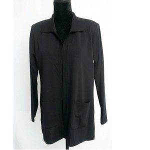 Exclusively Misook  Open Front Cardigan M